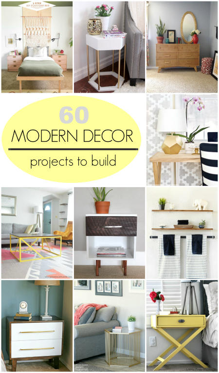 60 DIY tutorials modern decor