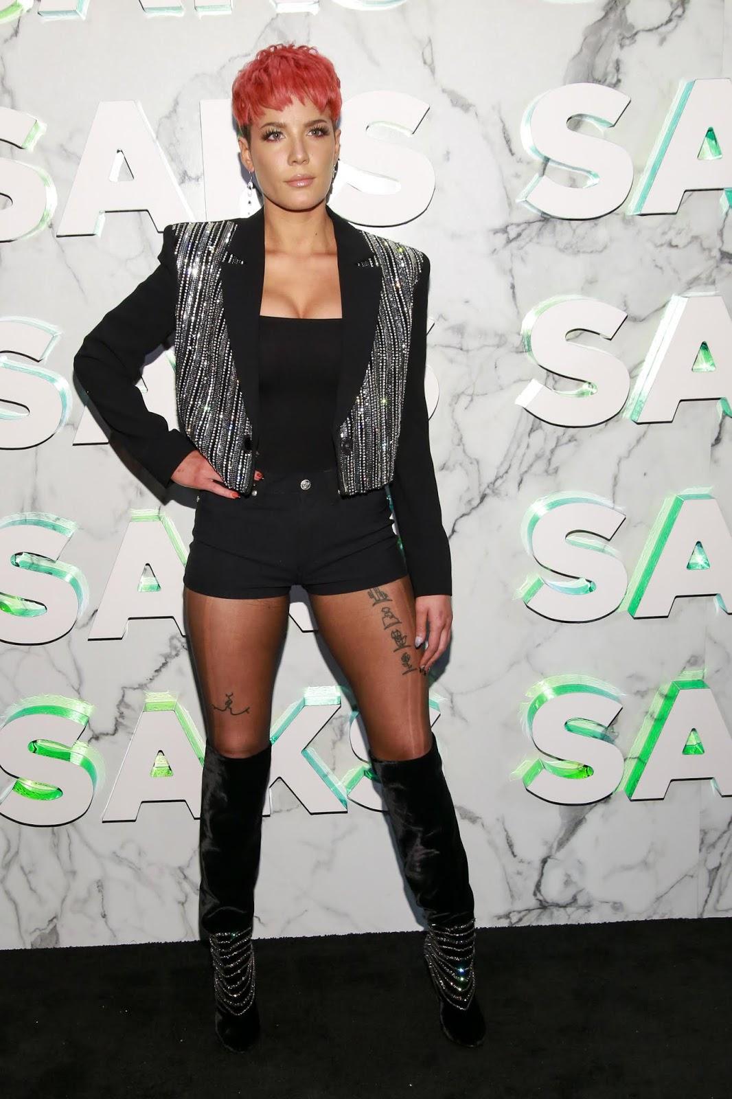 Halsey - Saks celebrates new main floor at Saks Fifth Avenue in NYC - 02/07/2019