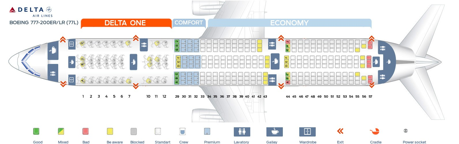 ✓ Best Of Boeing 777-200 Seat Map - Seat Inspiration Delta Boeing Er Seat Map on