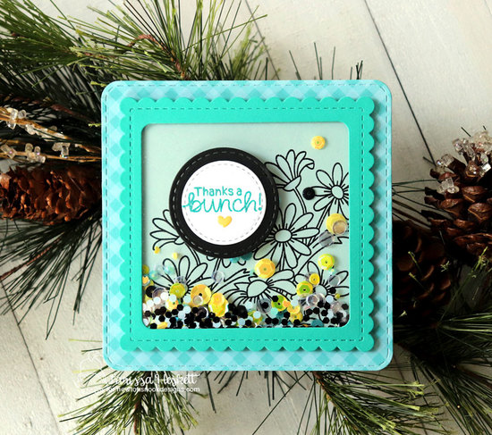 Thanks a bunch by Larissa features Dainty Daisies and Frames Squared by Newton's Nook Designs; #newtonsnook