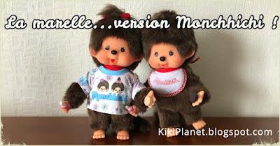 kiki Monchhichi marelle hopscotch récréation jeu game cute mignon