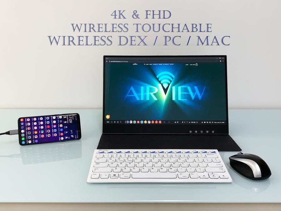 4K portable wireless touchscreen