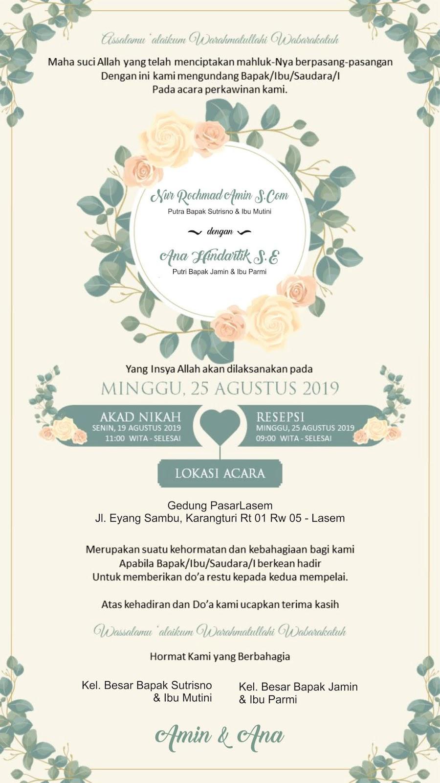 undangan pernikahan digital foto