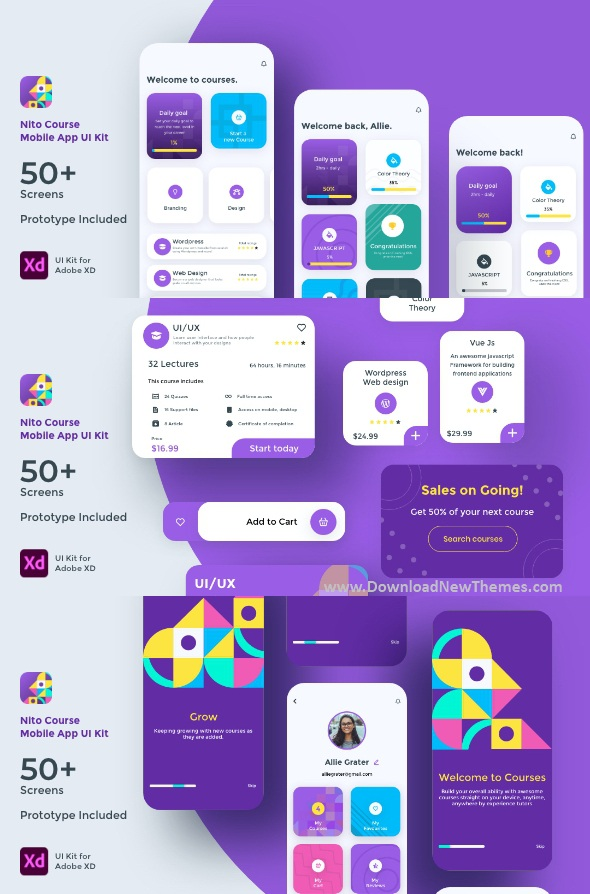 Course Mobile App UI Kit