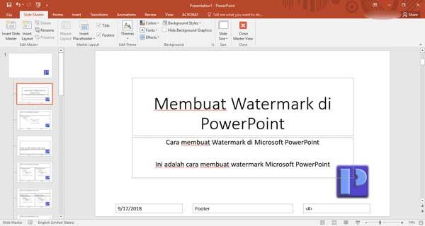 menambahkan tanda air di microsoft powerpoint