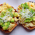 Scrambled Eggs, Avocado and Parmigiano Reggiano Bagels...