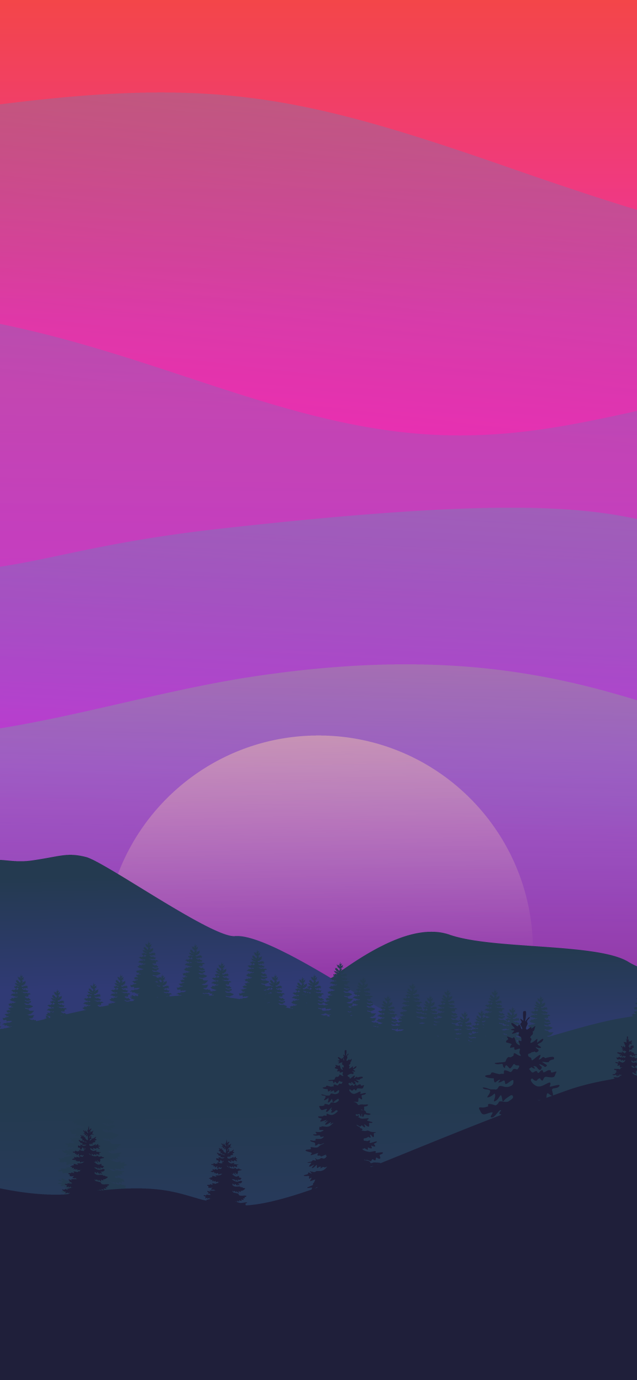 Beautiful backgroun wallpaper hd of a purple sunset landscape for iphone and others mobile phone