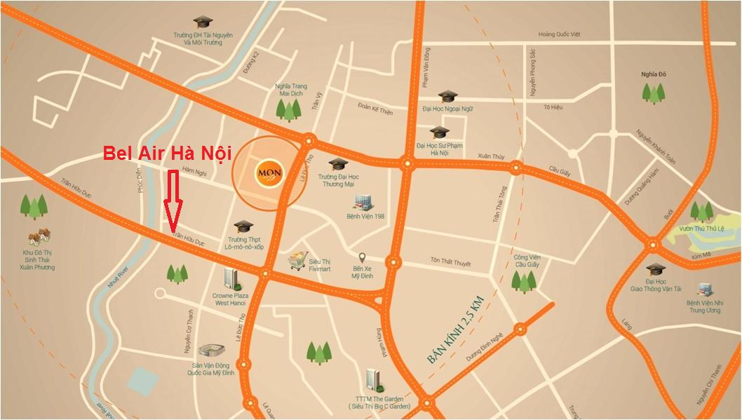 Vị trí chung cư Bel Air Hà Nội