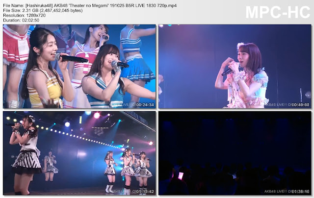 AKB48 'Theater no Megami' 191025 B5R LIVE 1830
