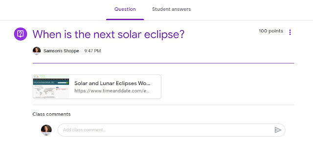 Ask questions to your upper elementary students to assess remote learning while using Google Classroom