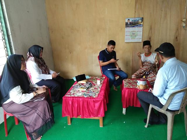 Tim dari Dinas Pendidikan Kabupaten Barru saat menemui Pak Hamid