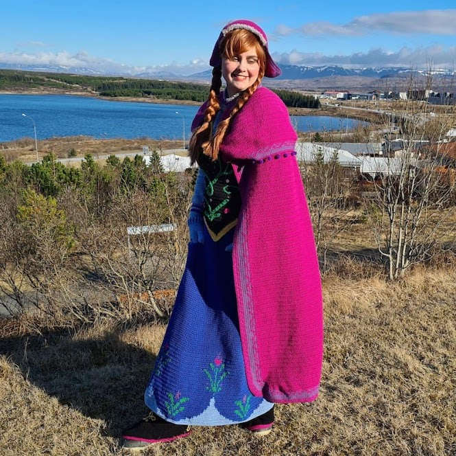 Crochet Cosplay: Princess Anna North Mountain Dress