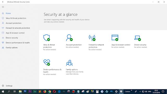 Gunakan antivirus Windows Defender saja, cukup!