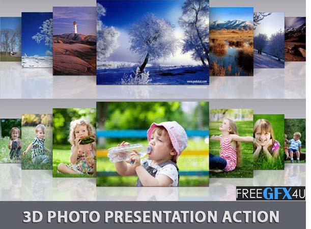 3D Photo Presentation Action & PSD Templates