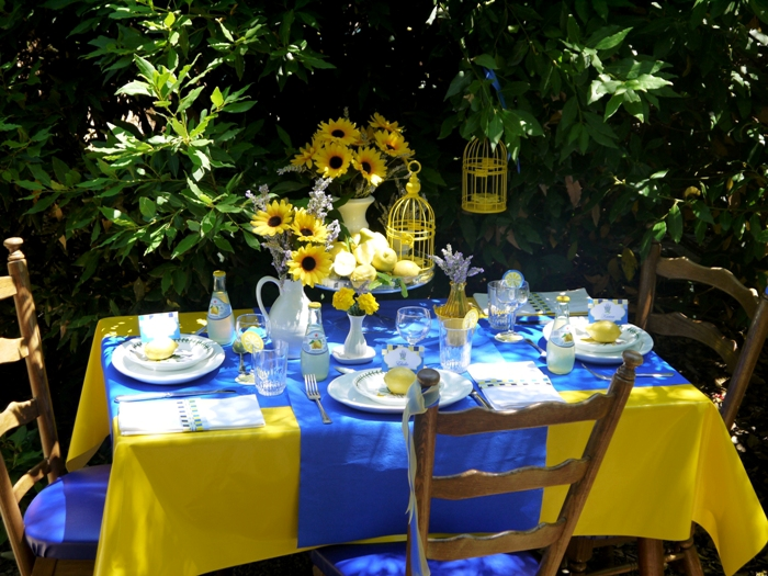 Summer in Provence Tablescape Ideas for Lunch or Brunch - BirdsParty.com