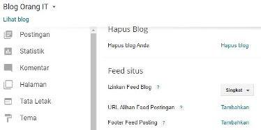 setting umpan rss feed blog