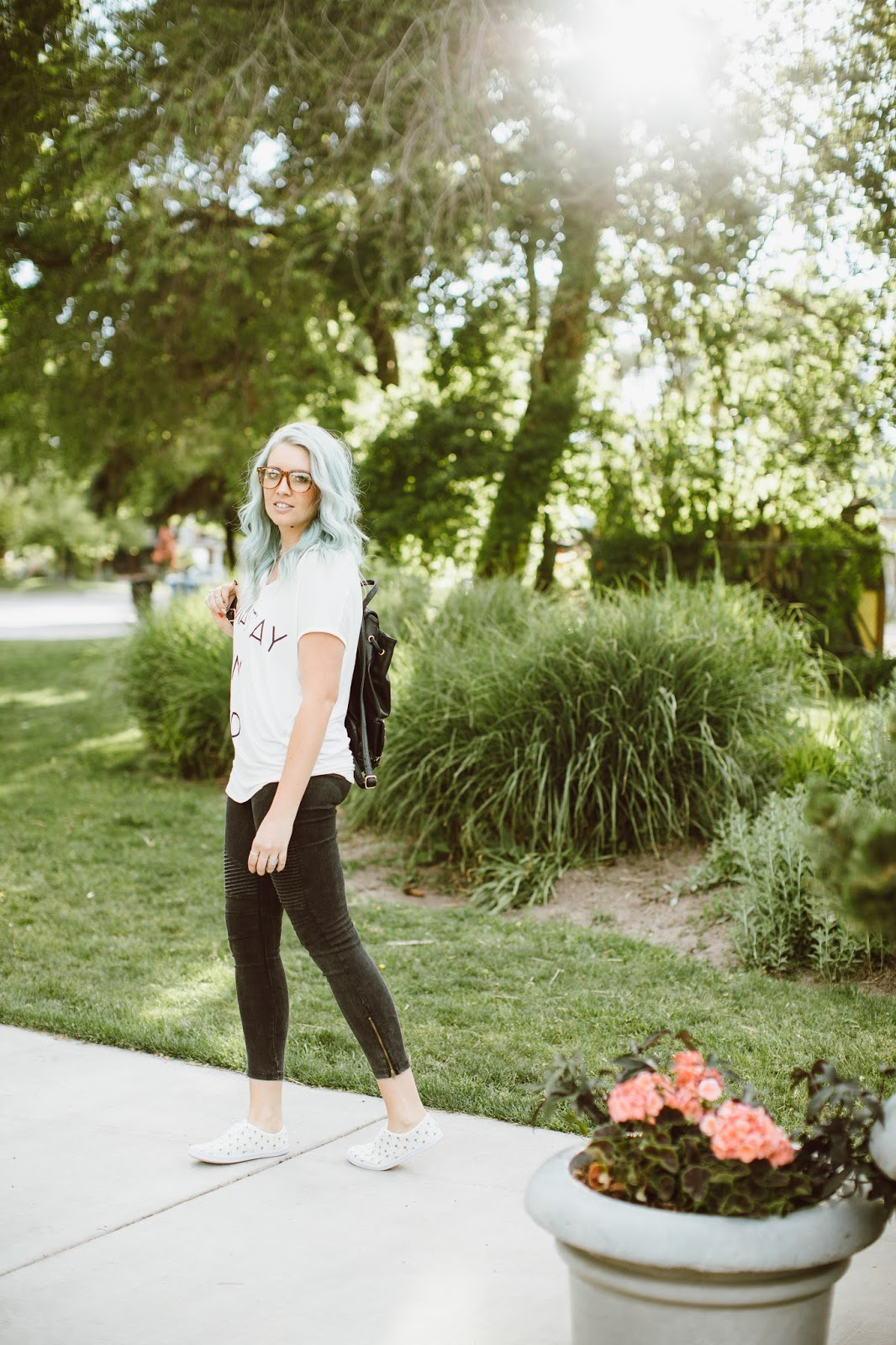 Casual Outfit, Utah Fashion Blogger, Moto Leggings