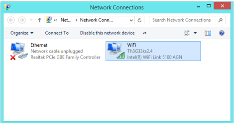 see or change wifi or internet password in windows 8 or 8.1