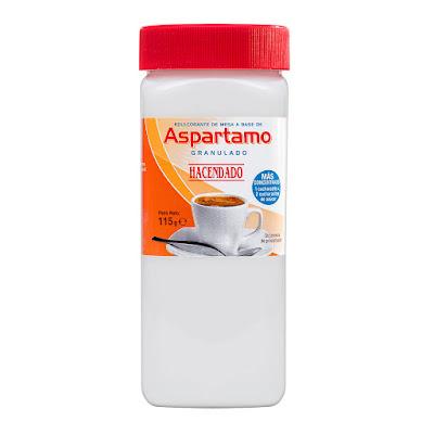 Edulcorante de aspartamo granulado Hacendado