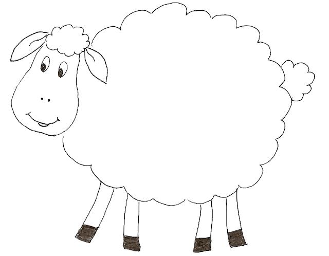 Gambar Mewarnai Domba - 3