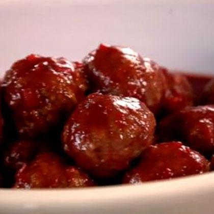Tangy Grape Barbeque Meatballs