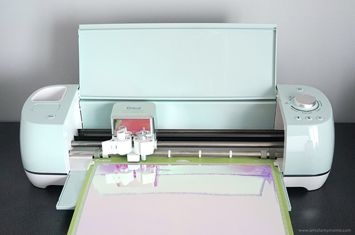 Cricut Explore Air 2 machine cutting adhesive vinyl