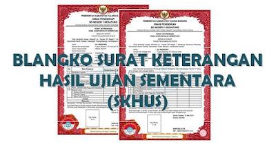 Aplikasi dan Contoh SKHU/SKHUN Sementara 2018 SD SMP