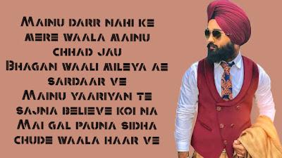 Mere Wala Sarda Song Lyrics (English) | Jugraj Sandhu | Latest Punjabi Song | New Punjabi Songs 2018