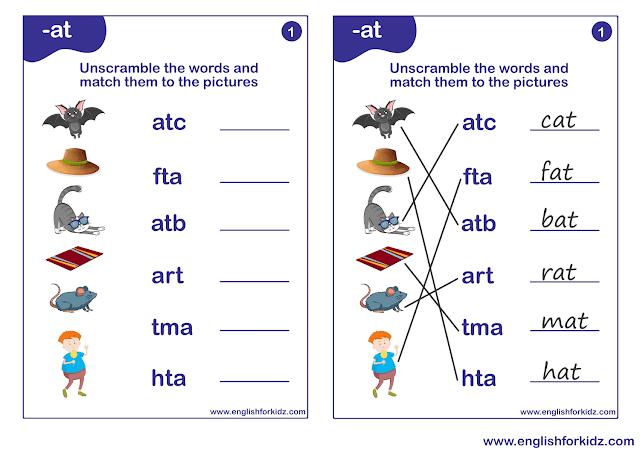 Phonics worksheets for grade 3