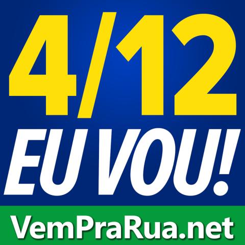 avatar vem pra rua para 4 de dezembro manifestação azul