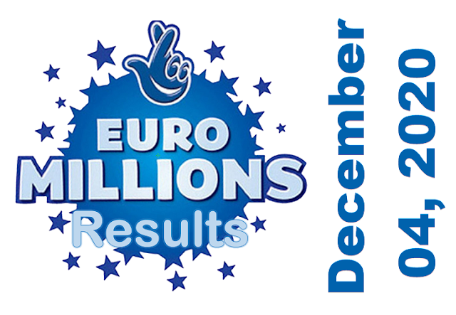 EuroMillions Results for Friday, December 04, 2020
