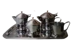 طقم شاي ستانلس ستيل - 8 قطعة