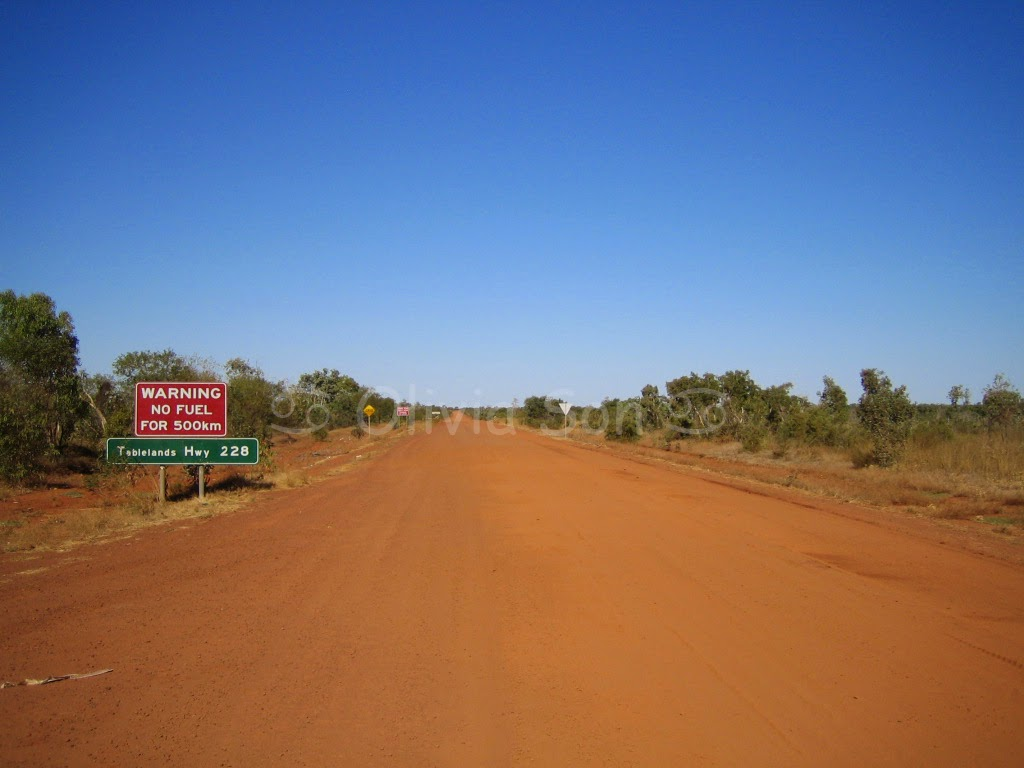 Dust road, Northern Territory, Australie