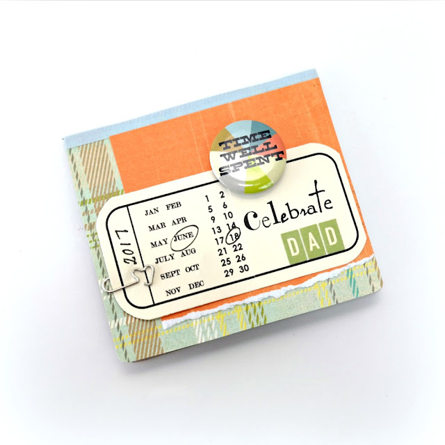 Celebrate Dad Father's Day Photo Flip Book by Dana Tatar for Scrapbook Adhesives by 3L