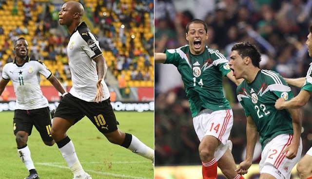 Mexico vs Ghana en vivo