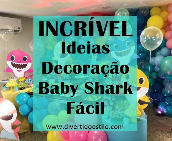Decoração de festa Baby Shark