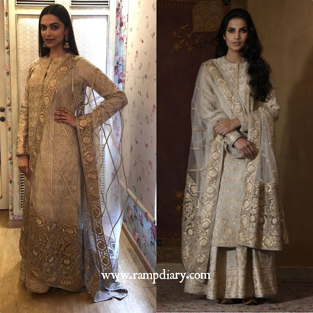 Deepika Padukone in Rimple Harpreet Narula for Padmavati promotions