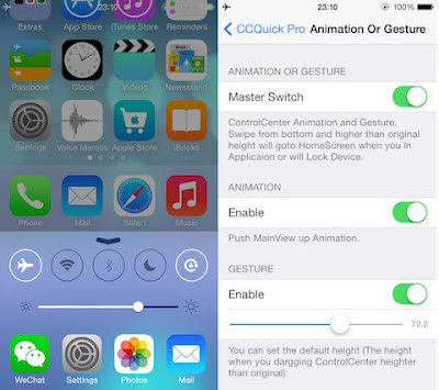 ccquick-pro-1 CCQuick Professional X for iOS 10 – Supercharge your Keep watch over Middle Jailbreak