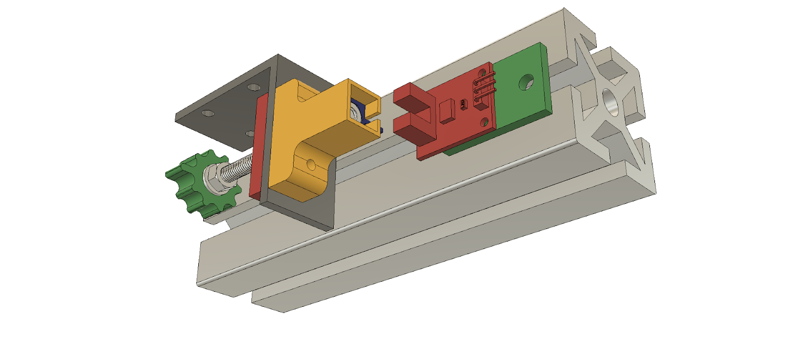 The Z axis optical endstop and differential screw adjuster