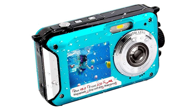 Underwater FHD 2.7K 48 MP Waterproof Digital Camera