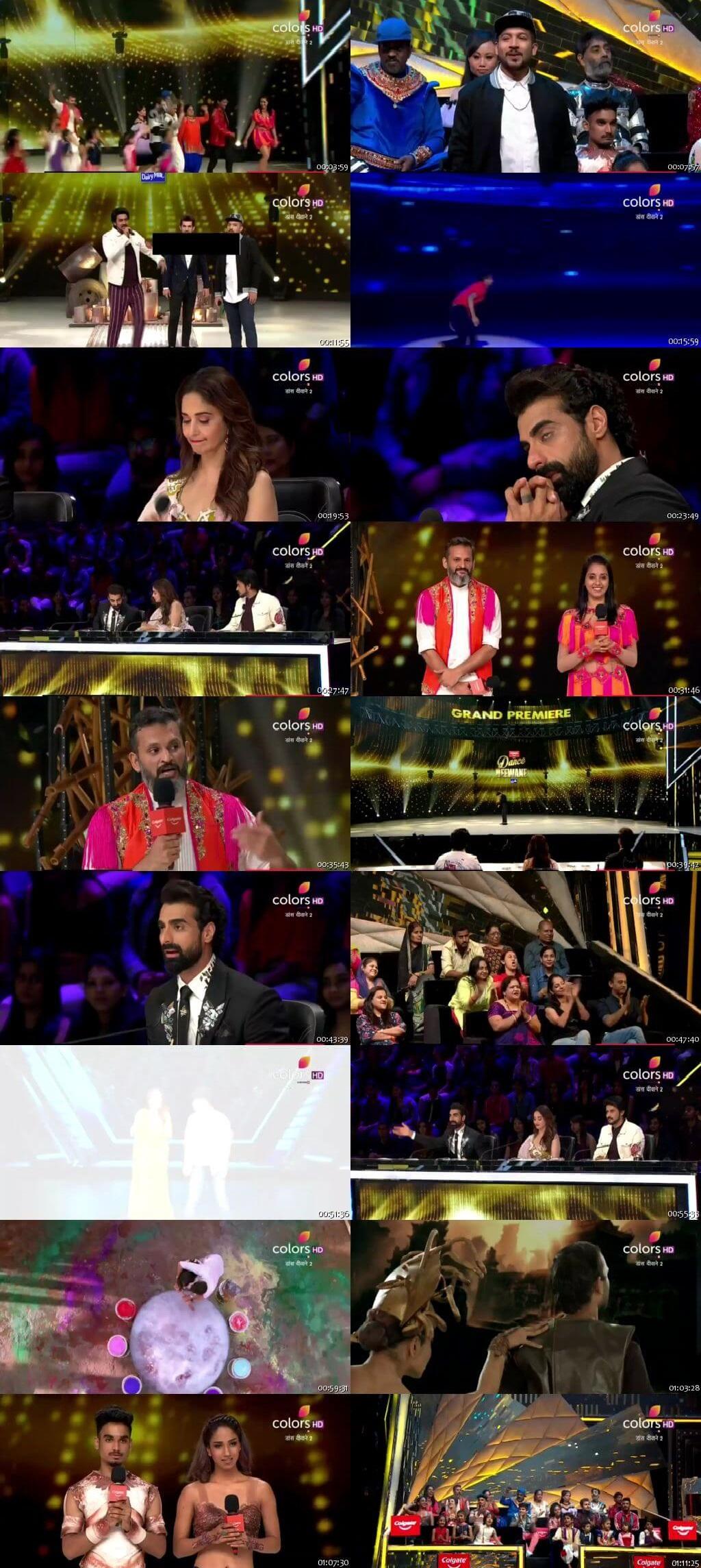 Screenshots Of Hindi Show Dance Deewane 2 30th June 2019 Episode 06 300MB 480P HD