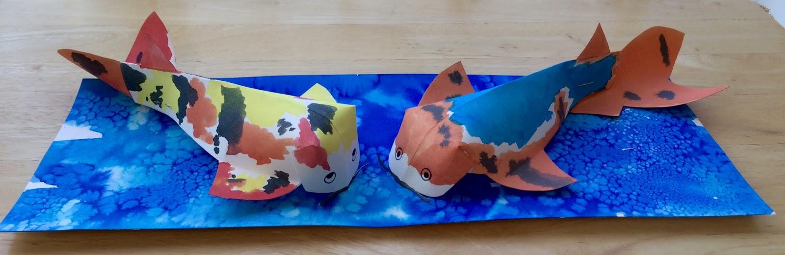 kathy s angelnik designs art project ideas 3d japanese koi