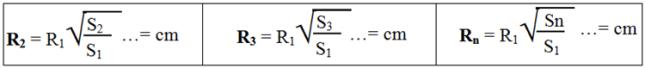 Tính bán kính hình tròn để thể hiện tương quan về qui mô của đối tượng