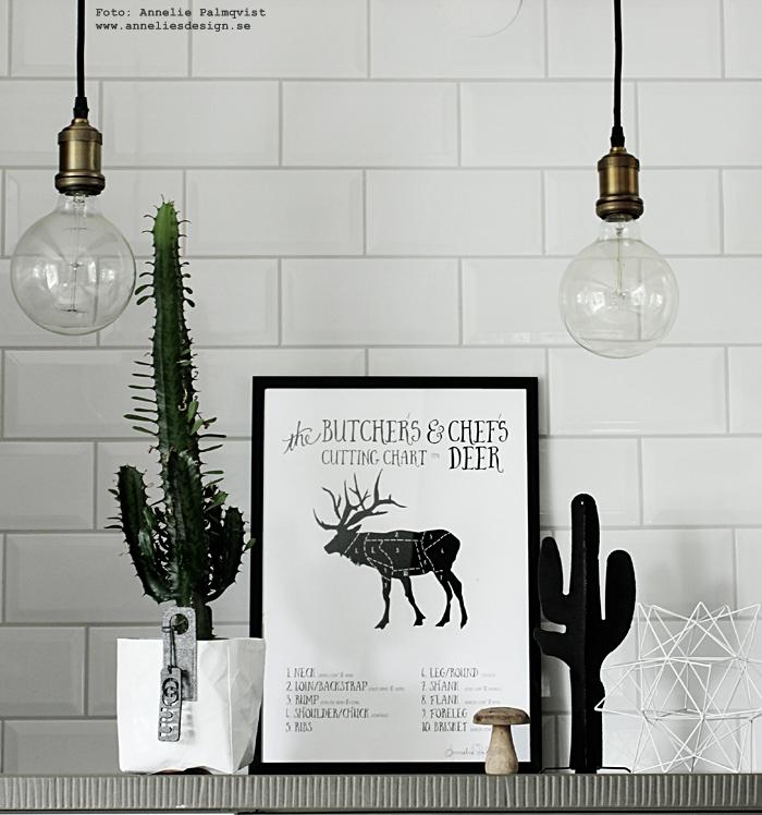 styckningsdetaljer, styckning, hjort, vilt, jägare, presenttips, present, presenter, födelsedagspresent, jaga, webbutik, webbutiker, webshop, inredning, tavla, tavlor, poster, posters, kaktus, kaktus prydnad, dekoration, stjärna, 3d, svart och vitt, svartvit, svartvita, hängande lampor, lampa, kök, köket