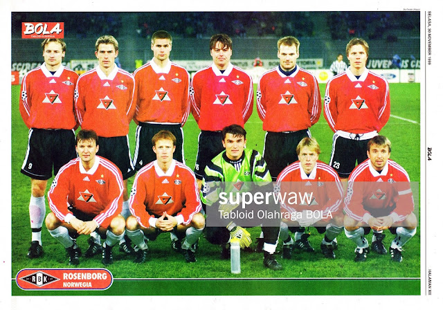 ROSENBORG 1999 TEAM SQUAD NORWAY