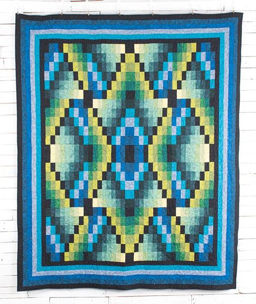 Navajo Seasons Quilt Free Pattern designed by Jinny Beyer
