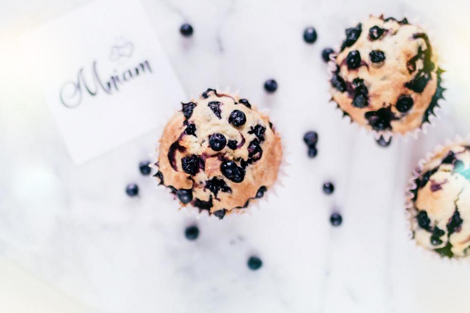 Jogurtowe muffinki z jagodami szybki przepis