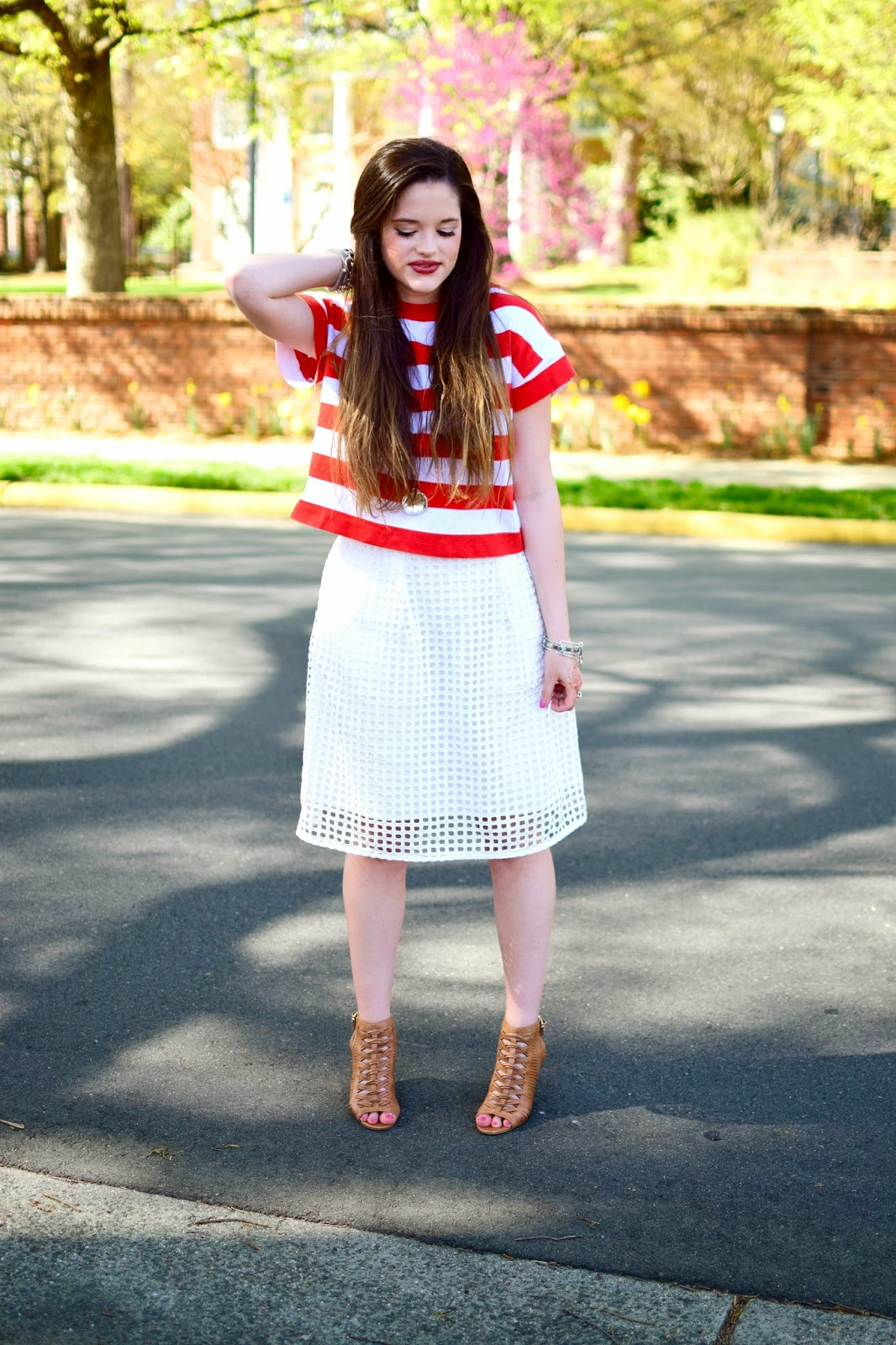 Kathleen's Fashion Fix: A Step Above :: striped crop top +