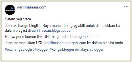 Jom Exchange Bloglist  (JULY 2019)
