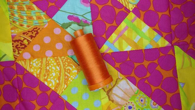 Dusty Orange 50wt Aurifil thread